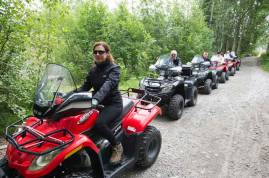 Talkeetna ATV tour to remote homestead
